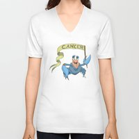 cancer V-neck T-shirts featuring Cancer by Dan Paul Roberts
