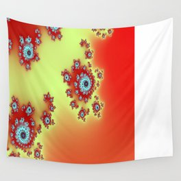 Mandel in Red Wall Tapestry