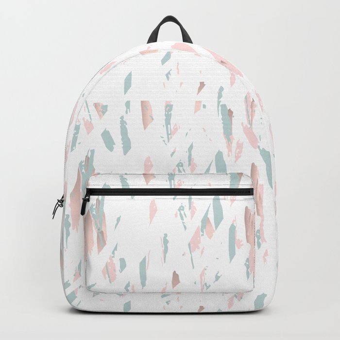 Terrazzo gold pastel Backpack