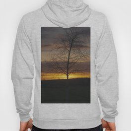 Sunset at the end of town Hoody
