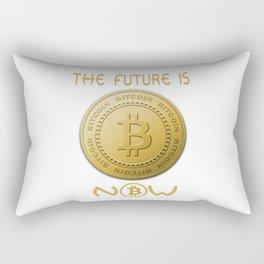 Gold Bitcoin Logo Symbol The Future is Now Rectangular Pillow