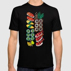 Sushi Collection Black Mens Fitted Tee MEDIUM