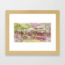 Parisian Cafe in the Spring 3 by Jennifer Berdy Framed Art Print