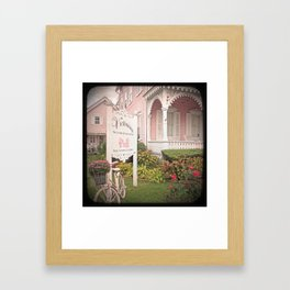 The Pink House Framed Art Print