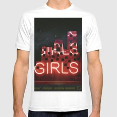 girls night ;) White Mens Fitted Tee MEDIUM