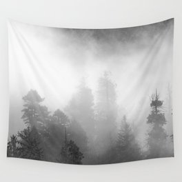 Harmony - Misty Mountain Forest Nature Photography Wall Tapestry