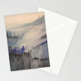 Mountain of trees Stationery Cards