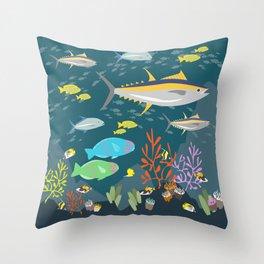 Hawaiian Reef Throw Pillow