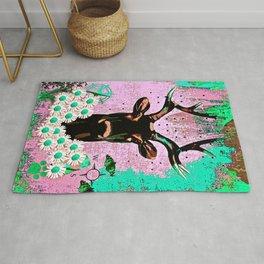 Deer Abstract Rug