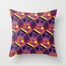 Chasing purple Throw Pillow