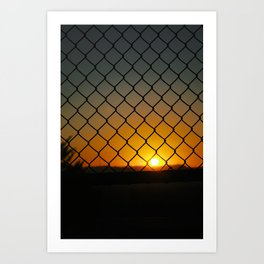 Fence Light Art Print