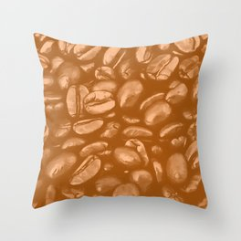 roasted coffee beans texture acrcb Throw Pillow