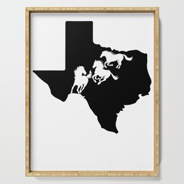 Texas American Quarter Horse Lover Black Serving Tray