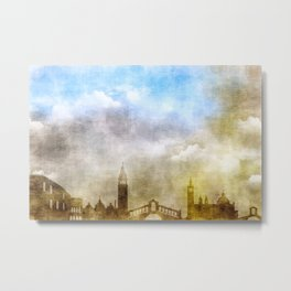 Golden clouds in Venice Metal Print
