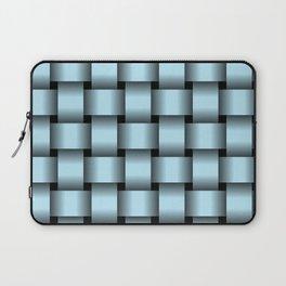 Large Pastel Blue Weave Laptop Sleeve