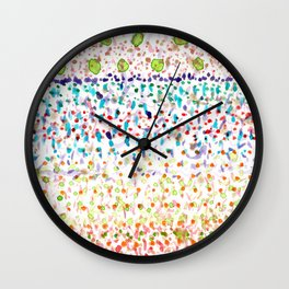 Striped Piled Dots Pattern Wall Clock