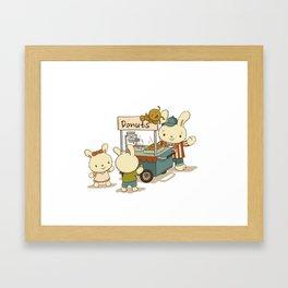 Mini Donuts Food Cart Framed Art Print