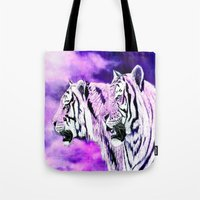 hunting Tote Bags featuring hunting by arnedayan