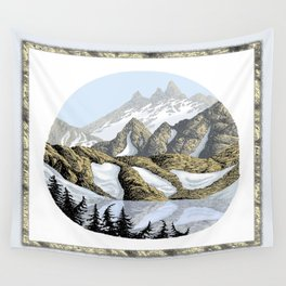 AN ALPINE LAKE Wall Tapestry