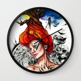 Death is timeless Wall Clock