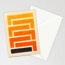 Orange & Black Geometric Pattern Stationery Cards