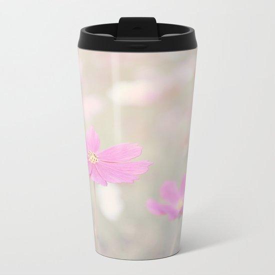 romantic flowers in soft pastel tones Metal Travel Mug