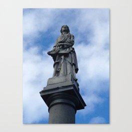 Statue at Sleepy Hollow Cemetary Canvas Print