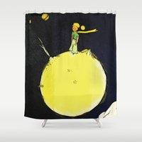 prince Shower Curtains featuring The prince by Axel Savvides