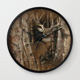 Deer - Birchwood Buck Wall Clock