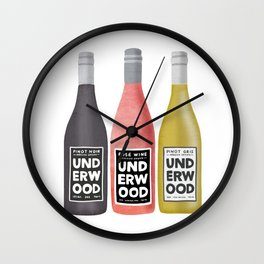 Underwood Wine Wall Clock