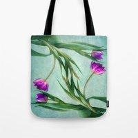 twins Tote Bags featuring twins by lucyliu