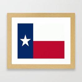 Lone Star ⭐ Texas State Flag Framed Art Print