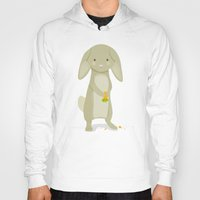 rabbit Hoodies featuring Rabbit by Jane Mathieu