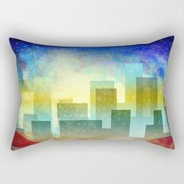 Colorful night digital illustration II. Rectangular Pillow