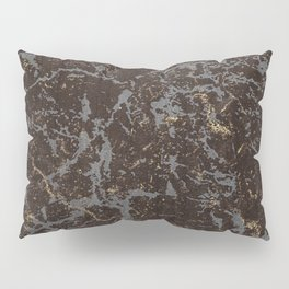 Crystallized gold stone texture Pillow Sham