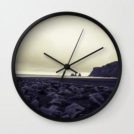 Dark beach Wall Clock