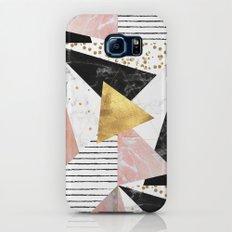 Elegant geometric marble and gold design Galaxy S7 Slim Case