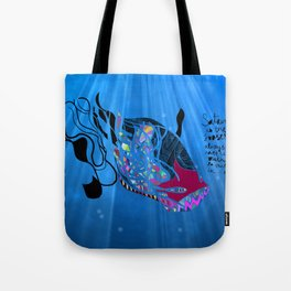 John 8/44+TheFish Nonrandom-art2 Tote Bag