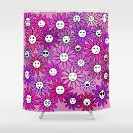 The Purple Daisy Folk Shower Curtain
