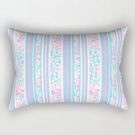 Lipstick Pink Roses and Butterflies - Stripes Rectangular Pillow