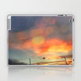 Love birds in the sunset Laptop & iPad Skin