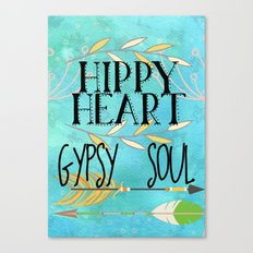 Hippy Heart Gypsy Soul Canvas Print