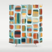 kandinsky Shower Curtains featuring Color apothecary by Efi Tolia
