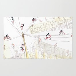 Cycling in London Rug