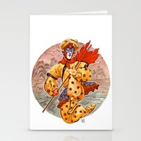 kit king Stationery Cards featuring Monkey King by Kit Seaton