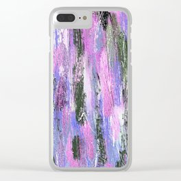 Abstract Brushstrokes Clear iPhone Case