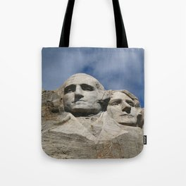 George Washington And Thomas Jefferson  - Mount Rushmore Tote Bag