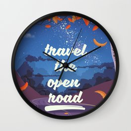 Travel the Open road Wall Clock