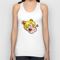popeye Tank Tops featuring Popeye the Sailor Moon by unluckyxiii