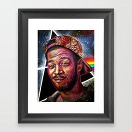 Man On The Dark Side Of The Moon Framed Art Print